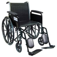 Silver Sport 2 Wheelchair with Fixed Arms and Swing-Away Elevating Leg