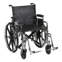 Sentra EC Wheelchair with Detachable Desk Arms and Swing-Away Footrest
