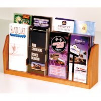 Countertop 8 Pocket Brochure Display - Medium Oak