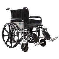 Sentra Heavy-Duty Wheelchair with Detachable Full Arms and Elevating L
