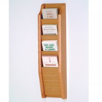 4 Pocket Brochure Rack - Light Oak
