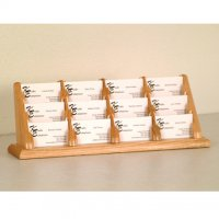 12 Pocket Countertop Business Card Holder - Light Oak