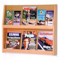 12 Pocket Literature Display - 2Hx6W - Light Oak