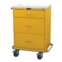 3 Drawer Medical Isolation / Infection Cart - Key Lock