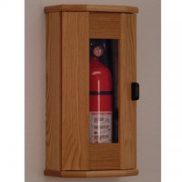 Fire Extinguisher Cabinet - 10 lb. capacity - Light Oak