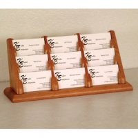 9 Pocket Countertop Business Card Holder - Medium Oak