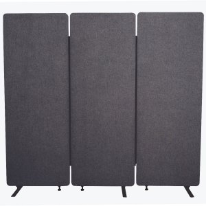 Acoustic Office Wall and Room Partition Dividers, 3-Pack in Slate Gray
