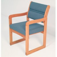 Reception and Waiting Room Chair - Light Oak - Charcoal Grey