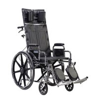 Sentra Reclining Wheelchair with Extra Long Detachable Desk Arms