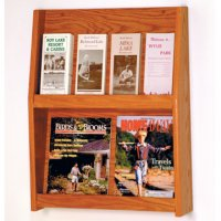 8 Pocket Literature Display - 2Hx4W - Mahogany