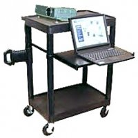 3 Shelf Overhead/Laptop Mobile Computer Cart - LT342S