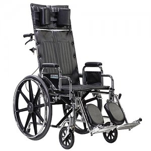 Sentra Reclining Back Wheelchair with Detachable and Adjustable Arms