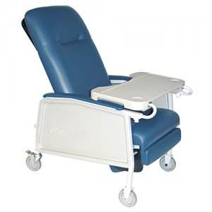 3 Position Extra Wide Bariatric Patient Room Recliner - Blue Ridge
