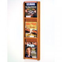 3 Magazine Wall Display - Medium Oak