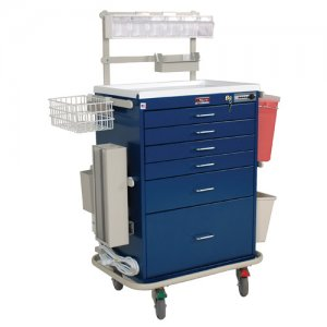 6 Drawer Specialty Medical Anesthesia Cart - Deluxe Specialty Package