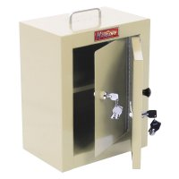Locking Narcotics / Medicine Cabinet - Double Door / Double Lock