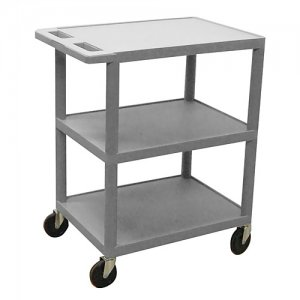 Small 3 Shelf Medical Utility Cart - Gray, Red, Blue - HE34
