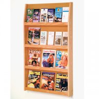 24 Pocket Literature Display - 4Hx6W - Light Oak