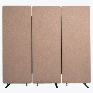 Acoustic Office Wall and Room Partition Dividers, 3-Pack in Desert Sand