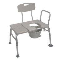 Bath and Shower Transfer Bench - Plastic with Commode Opening