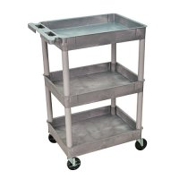 3 Tub Shelf Supply Utility Cart - STC111 - Gray, Blue, Red