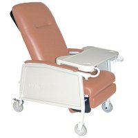 3 Position Recliner, Bariatric, Extra Wide Recliner in Rosewood