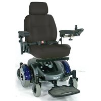 EC Mid Wheel Drive Electric Power Wheelchair - Blue with 18 inch Seat