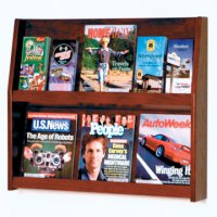 12 Pocket Literature Display - 2Hx6W - Mahogany