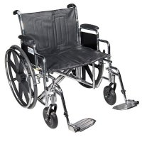 Sentra Heavy-Duty Wheelchair with Detachable Desk Arms and Elevating L