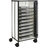 Deluxe iPad Tablet Charging Locking Security Storage Cart - 10 Slots