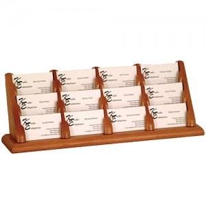12 Pocket Countertop or Table Business Card Holder