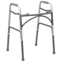 Aluminum Bariatric Easy Folding Walker - Extra Wide and Deep