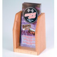 Countertop 1 Pocket Brochure Display - Light Oak