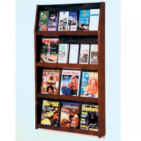 24 Pocket Literature Display - 4Hx6W - Mahogany