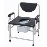 Super Heavy Duty - Bariatric Bedside Commode Seat with Drop Arm