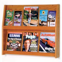 12 Pocket Literature Display - 2Hx6W - Medium Oak