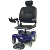 Blue Renegade Power Wheelchair with Pan Seat