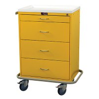 4 Drawer Medical Isolation / Infection Cart - Key Lock