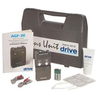 Portable Dual Channel TENS Unit with Electrodes and Carry Case