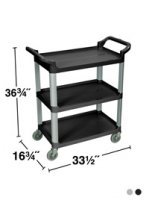 3 Shelf Serving or Product Transport Utility Cart