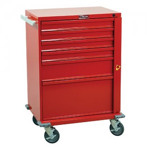 V-Series 6 Drawer Emergency Medical Crash Cart with Breakaway Lock