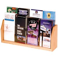 Eight Pocket Wooden Countertop and Table Brochure Display