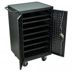 Ipad Tablet or Laptop Charging Station Cart with 24 outlets - LLTM24-B