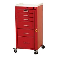 6 Drawer Mini Line Emergency Medical Crash Cart with Breakaway Lock