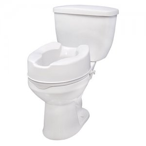 Toilet Seat (Raised) with Lock - 6 Inch Seat Height