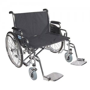 Sentra EC Heavy-Duty Wheelchair with Extra Wide Detachable Desk Arms