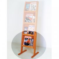 Optional Floor Stand for 4H Displays - Medium Oak