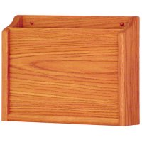 HIPAA Compliant Privacy Chart and File Holder, Wall Mounted, 1 Pocket, Letter Size, Oak Wood Finish