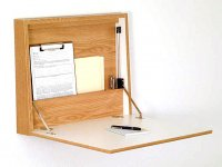 Wall Desk/Laptop Workstation - Light Oak