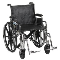 Sentra EC Wheelchair with Detachable Full Arms and Swing-Away Footrest